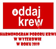 HARMONOGRAM POBORU KRWI 2019
