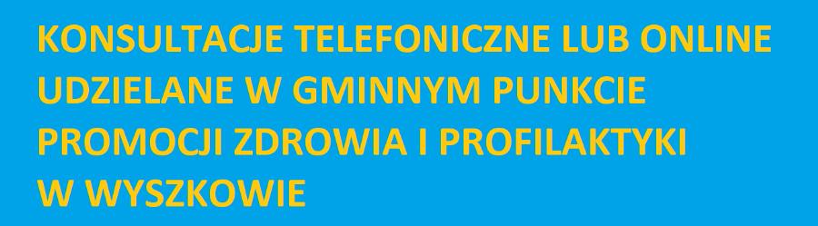 KONSULTACJE TELEFONICZNE W GMINNYM PUNKCIE